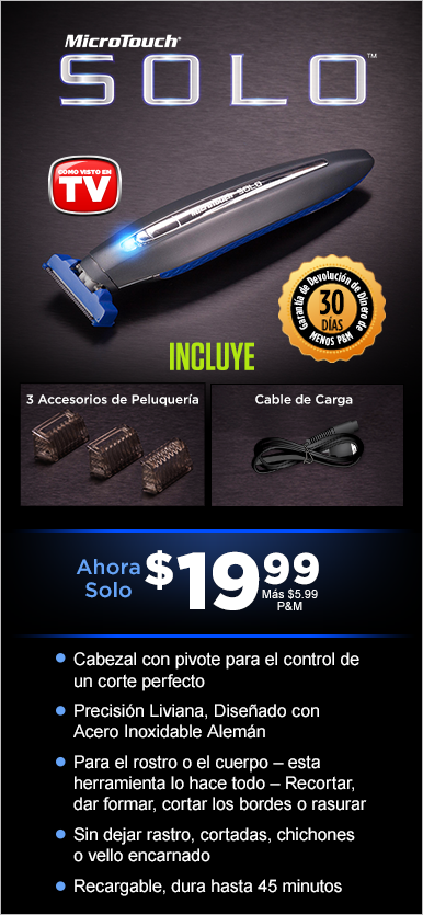 ¡Ordena Micro Touch® Solo™ Today!